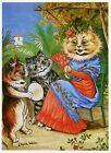 Louis Wain print SENORITA SPANISH CAT funny cat illustration art