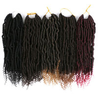 "12"" Ombre Spring Twist Braids Crochet Pre-twisted Curly Braiding Hair Extensions"