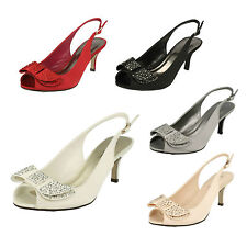 Anne Michelle Women's Satin Stiletto Mid Heel (1.5-3 in.) Shoes