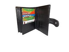 Mens Large Quality Soft Genuine Leather Travel Wallet/Purse - Black -Card Holder