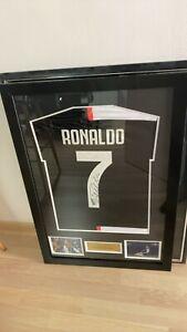 Cristiano Ronaldo National Team Soccer/Football Jersey Signed in Custom Frame