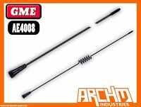GME AE4008 UHF 60 CM BLACK STAINLESS STEEL 477 MHZ ANTENNA 6.6 DBI
