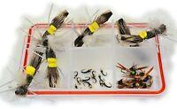 30 Flies - Hopper Dropper Fly Fishing Assortment - Mustad Signature Hooks
