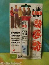 BIG BANG THEORY ROCK PAPER SCISSORS LIZARD SPOCK DICE GAME NIP Warner Bros