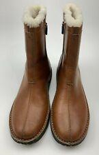 SCM Polo Sport Brown Leather Insulate Boots Zipper Women's  9.5 B