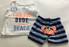 Nwt  Carter's Boys 2 Pc Top And Short Set Size Newborn