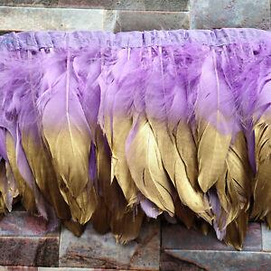 Hot Selling 2Yards Beautiful 15-20cm/6-8 inch Natural Pheasant Feathers Ribbon
