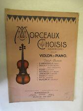 Morceaux Choisis (Album Moderne) pour Violon et Piano /Bosworth & Co 1903