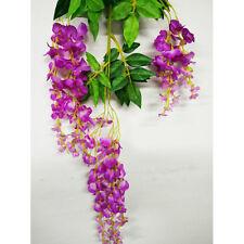 Wedding Strings Silk Wisteria Flowers Arch Gazebo Decoration Home Garland Rose