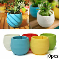 Mini Round Succulent Planter Pot Bonsai Cactus Flower Pot Plant Box Garden Home