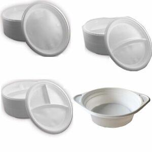 Wählbar: Menüteller/Suppenteller Plastikteller Einweg Teller Einweggeschirr weiß