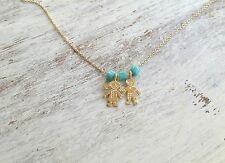 Gold filled 14K Necklace Child Pendant Gift For Mom Daughter