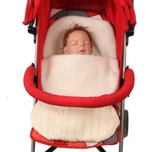Newborn Baby Knit Crochet Swaddle Wrap Swaddling Blanket Soft Warm Sleeping Bag