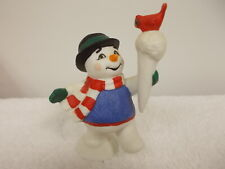Midwest of Cannon Falls Christmas Holiday Snowman With Redbird Figurine