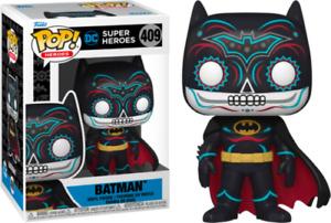 """DC SUPER HEROES  DIA DE LOS BATMAN 3.75"""" POP VINYL FIGURE FUNKO 409 IN STOCK"""