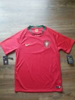 NWT Authentic NIKE Portugal Home Soccer Jersey World Cup 2018 Men's Sz Medium