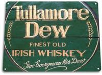Tullamore Dew Irish Whisky Pub Bar Vintage Rustic Retro Tin Sign