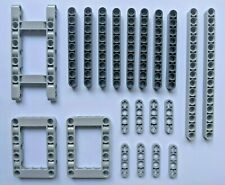 21 piece LEGO Technic Beam or Liftarm Pack - New Grey Parts - Free postage