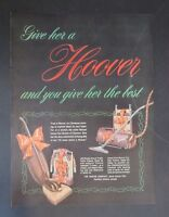 Original Print Ad 1948 HOOVER Give Her the Best Christmas Vintage Art