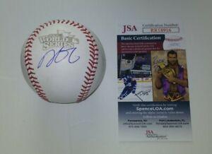 Dustin Pedroia Red Sox Signed Autographed 2013 World Series OMLB Baseball JSA