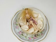 TEACUP FAIRY - FAIRY DREAMS - Porcelain sleeping fairy