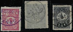 SAUDI ARABIA 1890 1930s COLLECTION OF 40 EARLY CANCELS ON STAMPS of HEJAZ NEJD