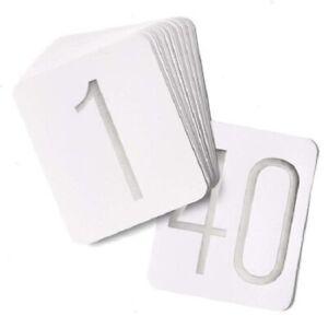 "Hortense B. Hewitt 23862 Silver Foil #1-40 Wedding Table Number Cards 5"" x 6"""