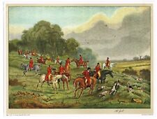 AUTHENTIC VINTAGE ART PRINT FOXHUNTING ENGLISH HORSE C1930S VIVIAN MANSELL  1