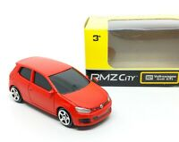 Volkswagen VW Golf GTI Red Diecast Car 1/64 (Approx 2.5 inches) RMZ City