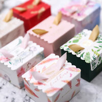 10Pcs Cute Unicorn Paper Gift Box Candy Case Baby Shower Wedding Party Favour