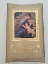 Published 1958. BIBLE! BEAUTIFUL! HOLY FAMILY CATHOLIC BIBLE! Collectors look!