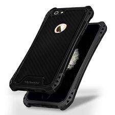 "Apple iPhone 6 6s 4.7"" WuW outdoor case resistente a los golpes TPU carbon skin funda negra"