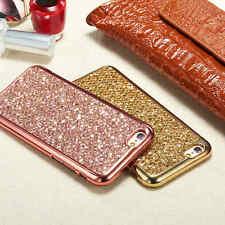 Luxe Strass Paillettes Bling Souple Coque TPU Gel housse étui Pr iPhone Samsung