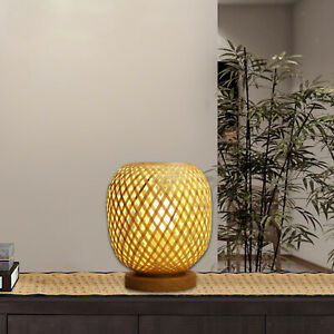 Creative Bamboo Table Lamp Lampshade for Living Room Bedroom Dining Room