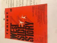 Music Sheet West Side Story Tonight Natalie Wood Musical Broadway