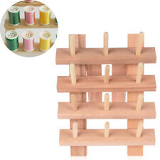 12 Axis Wooden Wood Thread Rack Rope Holder Sewing Supplies Spool Organizer