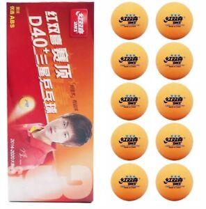 30 x Orange DHS 3 Star D40+ Table Tennis Ball, 2017 CELL-FREE-DUAL, ITTF, New