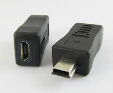 1 Pcs Mini 5pin USB Male Plug To Micro 5pin Female USB Adapter Connector New