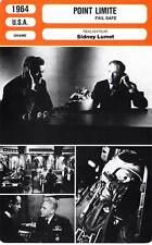 FICHE CINEMA : POINT LIMITE - Fonda,Matthau,Lumet 1964 Fail Safe