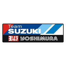 Sticker plastifié TEAM SUZUKI YOSHIMURA GSR GSX-R Bandit SV - 3,5cm x 12cm