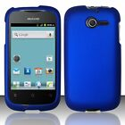 For Huawei Ascend Y H866C Rubberized HARD Case Snap On Phone Cover Blue