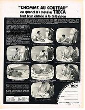 """PUBLICITE  1971   TRECA  mateles """" l'homme au couteau"""""""