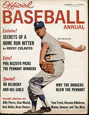 1963 Official Baseball Annual Don Drysdale Ex Condition