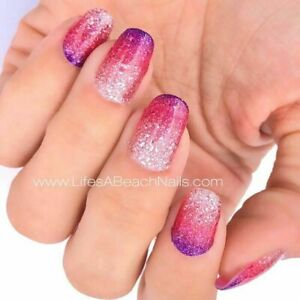 m9l3GoColorStreet NUCLEAR FUCHSIAN Dry Nail Polish BRAND NEW Glitter Pink Purple