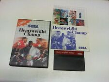 HEAVYWEIGHT CHAMP master system