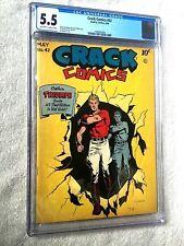 Crack Comics #42 May 1946 Quality Comics CGC 5.5 and FREE full color photocopy.