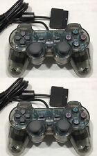 VIBRATE DUAL SHOCK CONTROLLERS X 2 FOR THE PLAYSTATION 2 - BRAND NEW - PS1 PS2