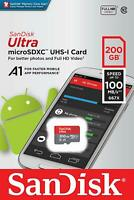 SanDisk® Ultra 200GB microSDXC™ UHS-I SD Card Speed up to 100MB/s C10 U1 A1 New