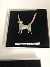 Jack Russel PP-D06 Dog Pewter Pendant on a PINK CORD Necklace