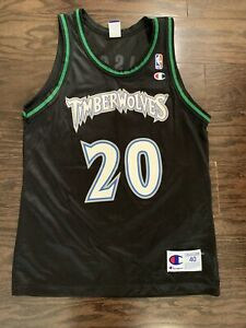 Vintage Minnesota Timberwolves Olson #20 NBA Basketball Champion Jersey Mens 40